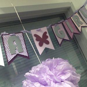It's a girl purple butterfly banner