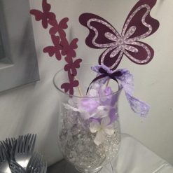 purple butterfly centerpiece