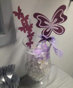 purple butterfly centerpiece