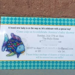 rainbow fish invitations