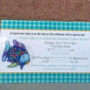rainbow fish invitations