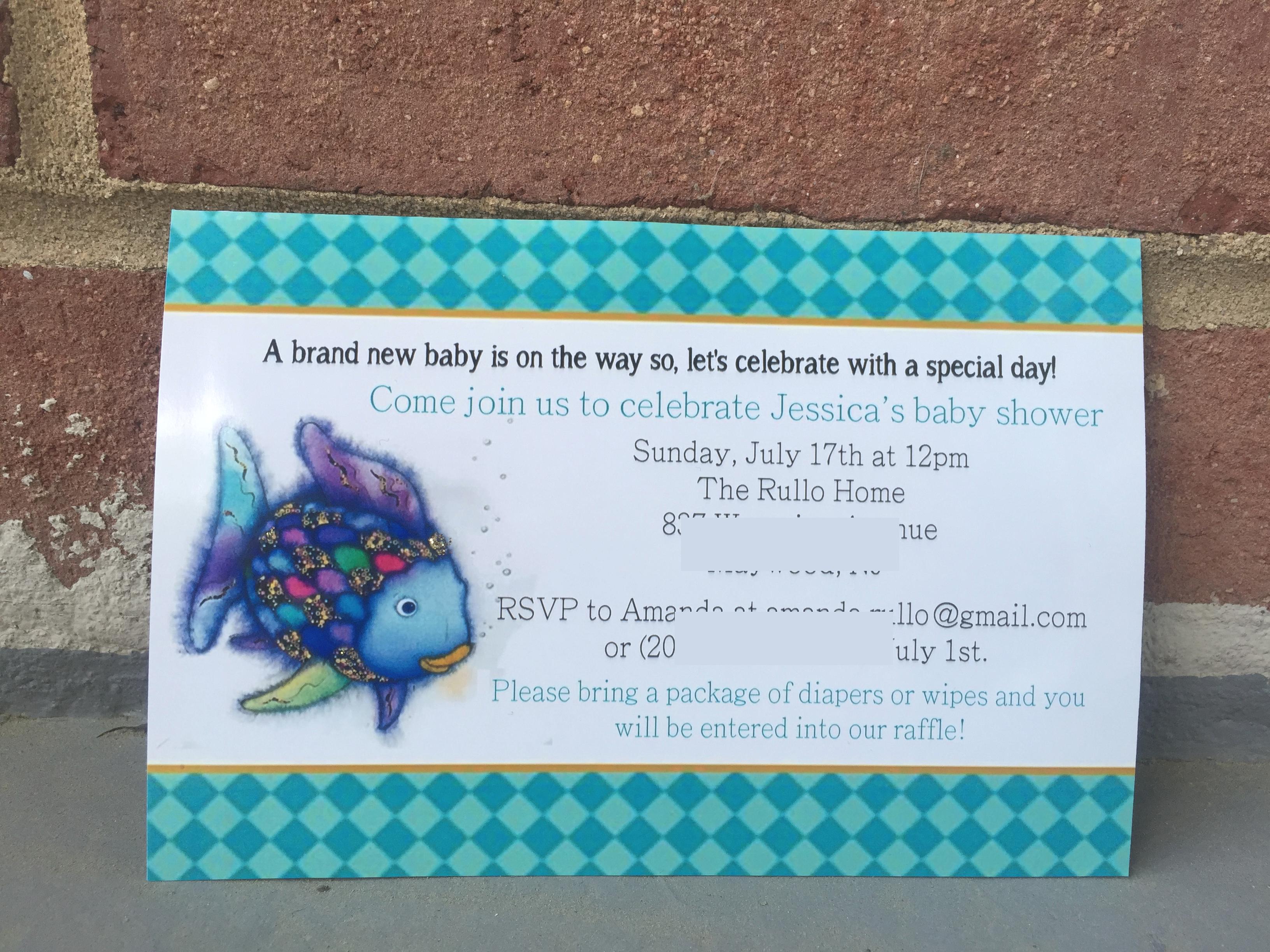 Rainbow Fish Invitations Love The Journeys