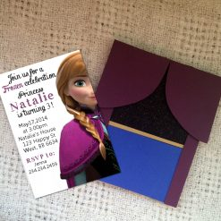 ana handmade birthday invitation