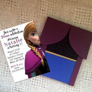 ana handmade birthday invitation