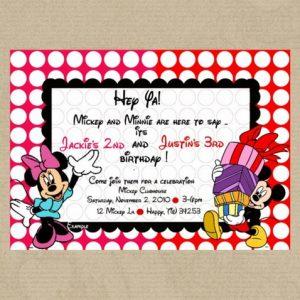 Minnie and Mickey digital invitation