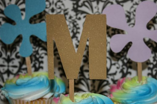 Art cupcake toppers