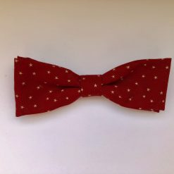 Red and yellow star boy bow tie