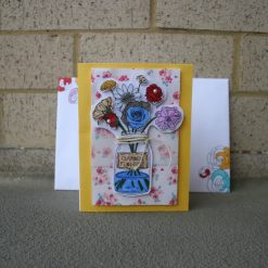 Mason jar with flowers card