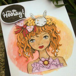cute watercolor birthday card