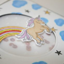 unicorns and rainbows card