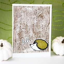 woodland porcupine fall card
