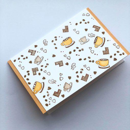 pumpkin latte season greeting card