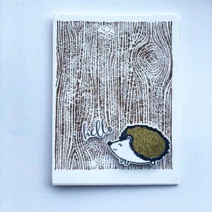 woodland hedgehog fall card