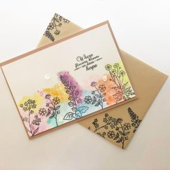 Bright flower Sympathy, Encouragement card
