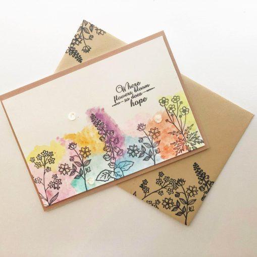 Bright flower Sympathy, Encouragement card