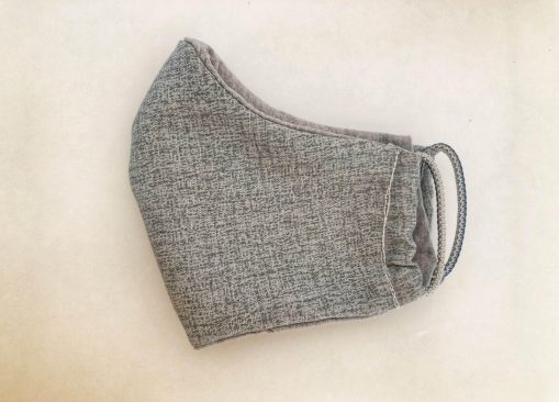 heather gray solid mask