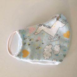 baby blue unicorns mask