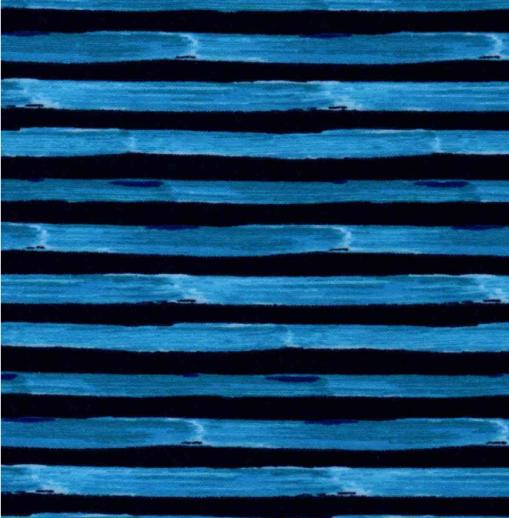 blue striped mask