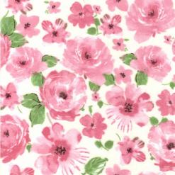 pastel pink flower mask
