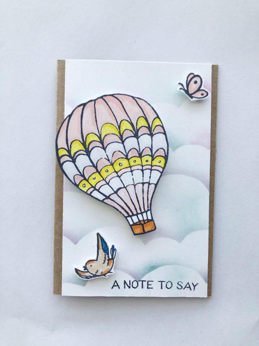 air balloon card