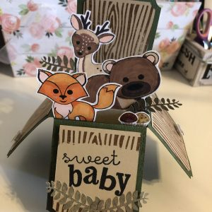 Sweet Forest Baby 3D pop up box