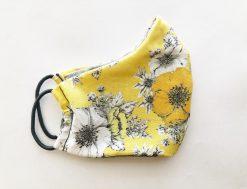 daisy flower yellow mask