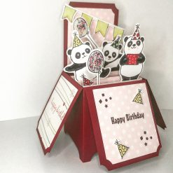 Birthday Bear 3D Pop Up Box