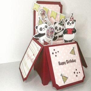Birthday Bear 3D Pop Up Box