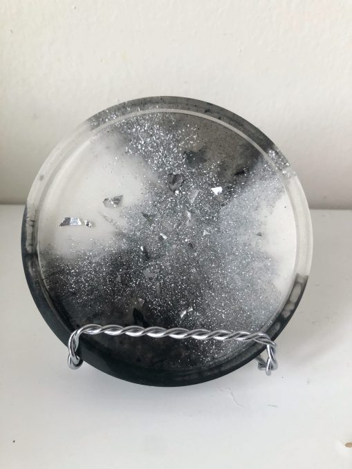 Marble resin coaster