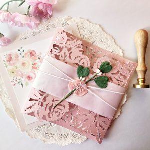 Blush Flower Invitation